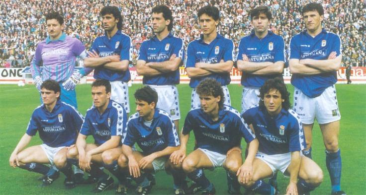 Plantilla Real Oviedo temp.89-90 - Fotografía extraída de Oviedin.com