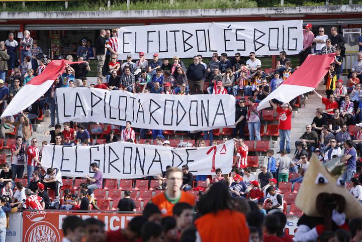 MARC MARTIGIRONAMONTILIVI GIRONA FC LUGO ENTRENADOR RUBI PARTIT EMES PER TELEVISIO TV3 AFICIO